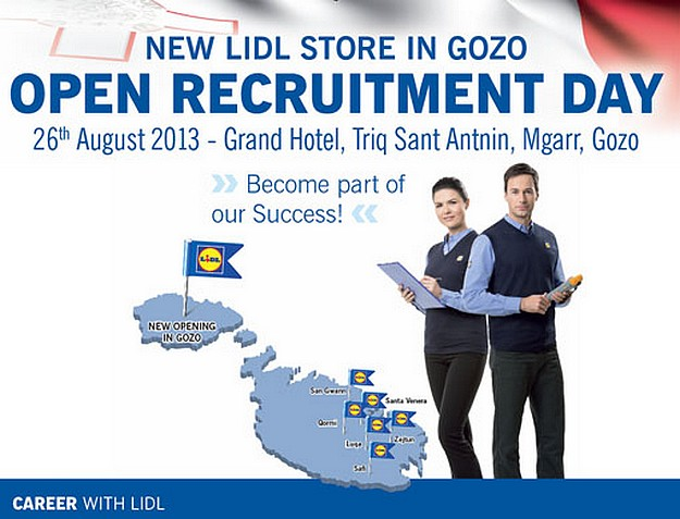 Lidl Gozo to hold an 'Open Recruitment Day' next Monday