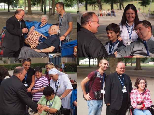 336 on pilgrimage in Lourdes lead by Mgr Charles J. Scicluna