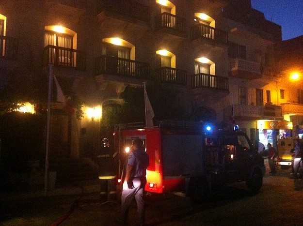 Fire breaks out at the St Patrick's Hotel in Xlendi, Gozo