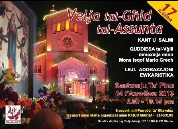 Vigil at Ta Pinu on the eve of the Assumption of Our Lady
