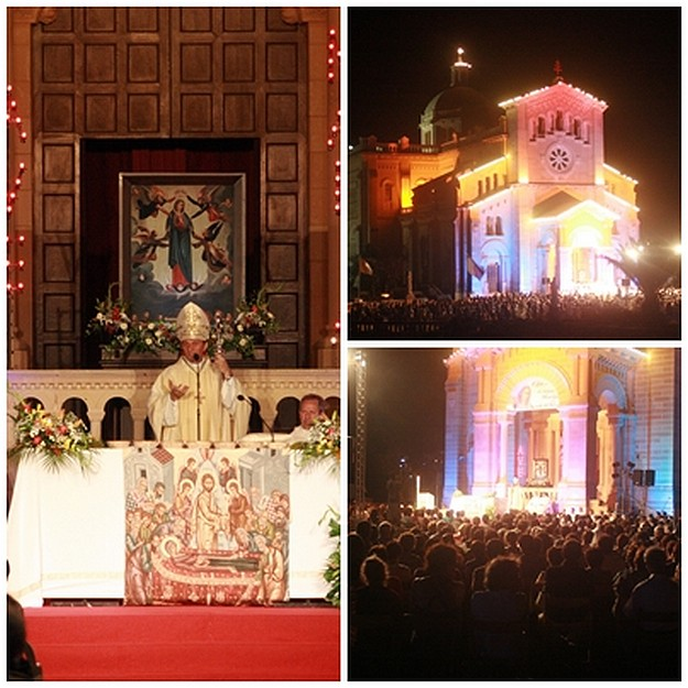 Hundreds of Gozitans & Maltese attend night vigil at Ta' Pinu