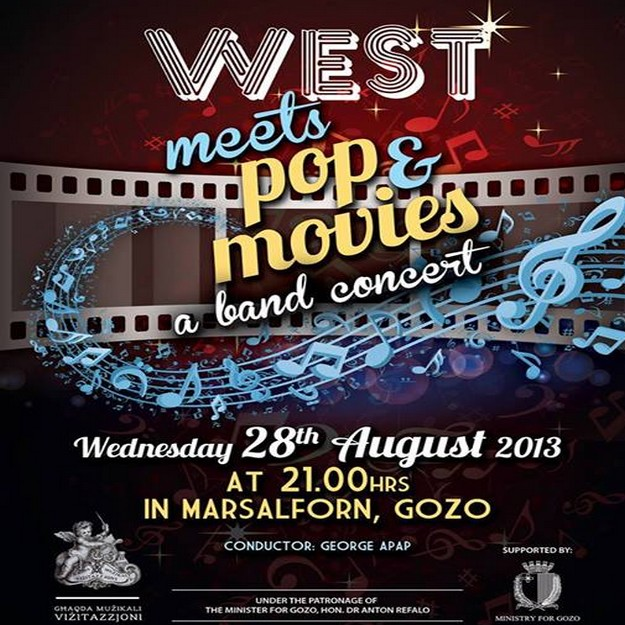 Gharb Band Marsalforn concert 'West meets Pop & Movies'
