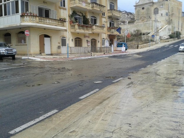 Xlendi clean-up carried out following this morning's storms