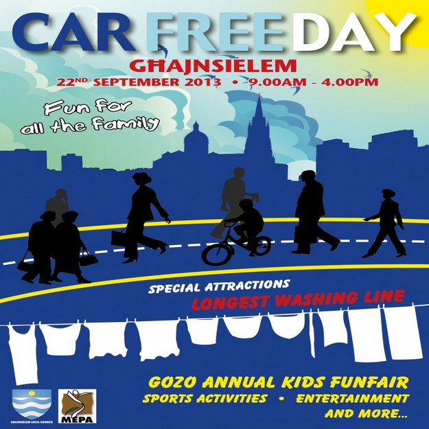 Car Free Day events taking place in Ghajnsielem village