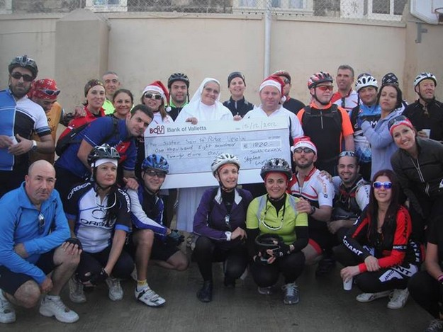 Charity cycle ride in aid of the Santa Rita Ursuline Sisters