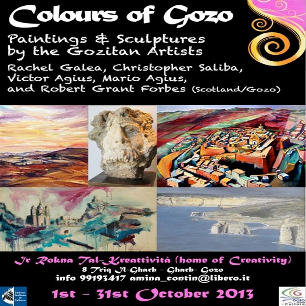 Colours of Gozo - Paintings & sculputures exhibition in Gharb