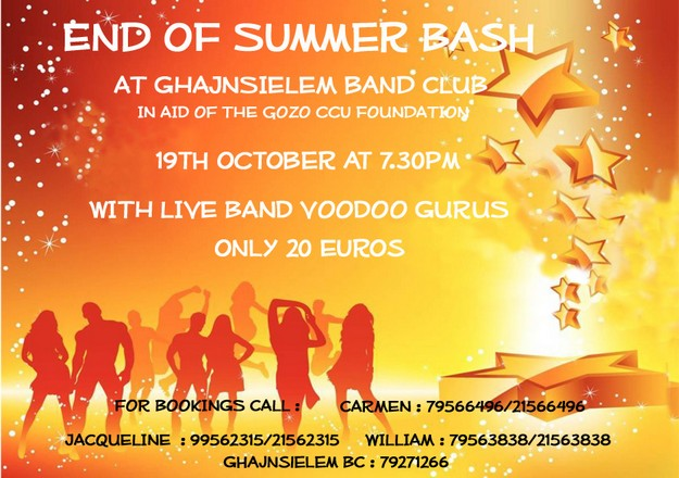 'Gozo CCU Foundation 'End of Summer Bash' in Ghajnsielem