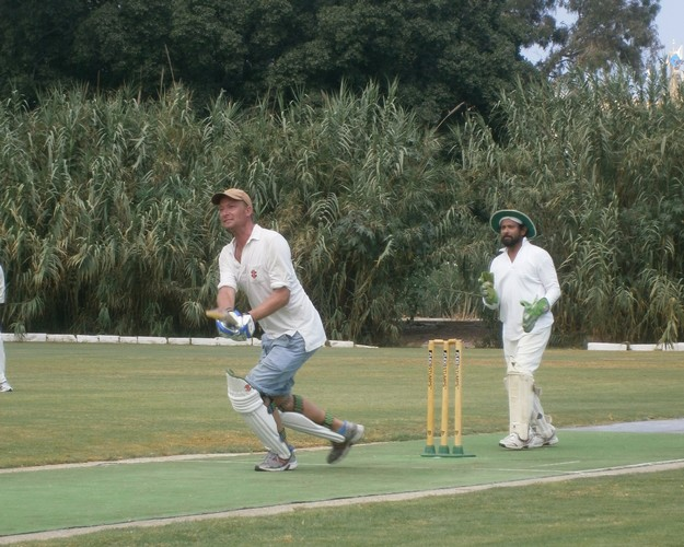 Krishna CC battle it out with Overseas CC in summer league