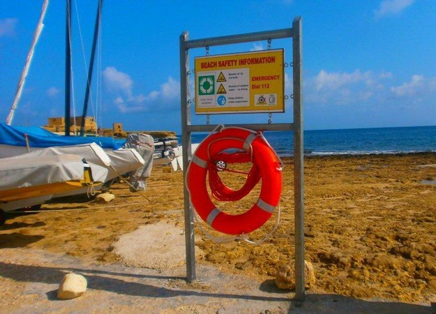 Life buoys & emergency information boards installed on Gozo