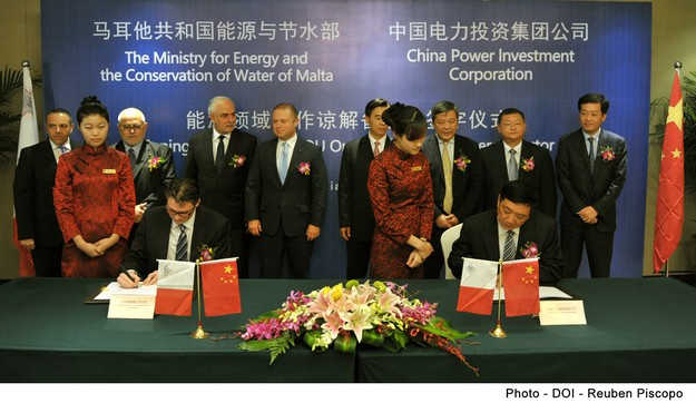Agreement signed with China to invest €320 million in Enemalta