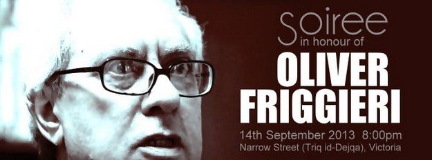Saturday evening soiree in honour of Prof. Oliver Friggieri