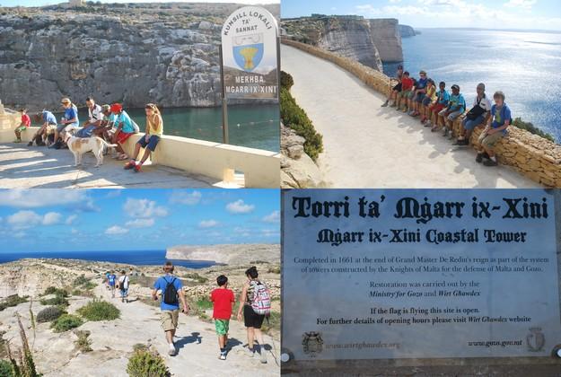 Gozo-Greyhound Youth Athletic Club 4-hour hike to Xlendi