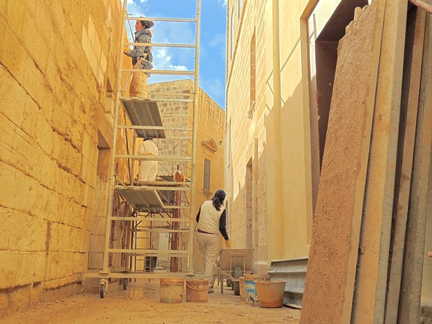 Work underway on building facades within the Citadel walls