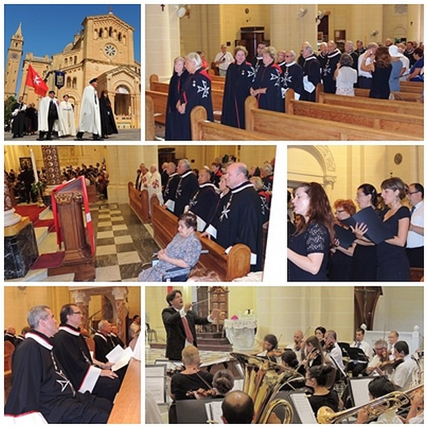 Applauding American Knights of Malta on Ta' Pinu pilgrimage