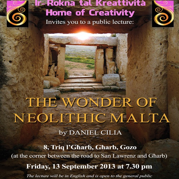 'The Wonder of Neolithic Malta' - A lecture by Daniel Cilia