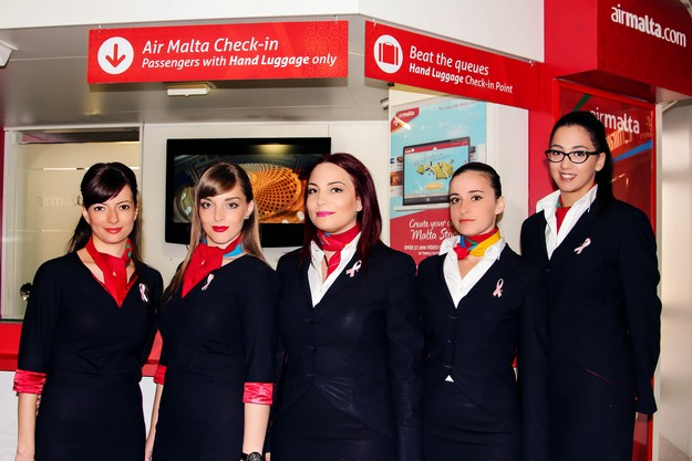 Air Malta assists the Breast Care Support Group Europa Donna Malta