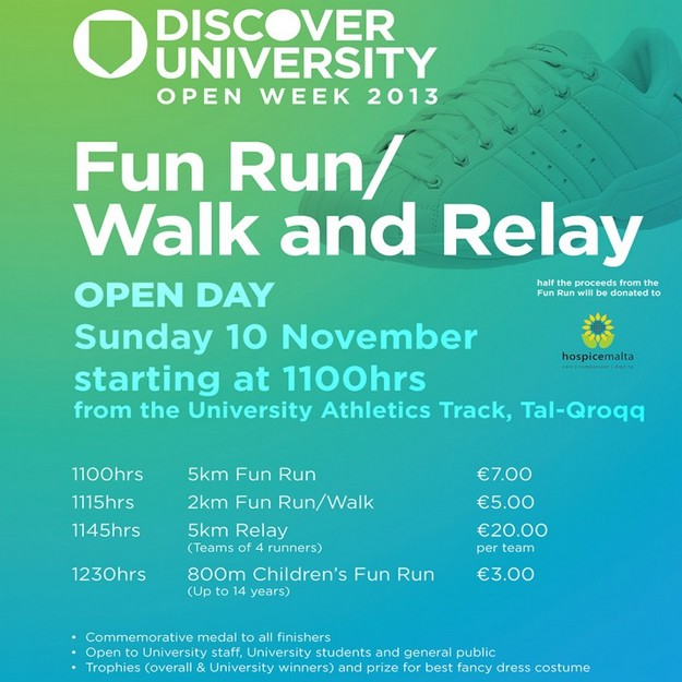 Discover University Fun Run/Walk and Relay for adults and children