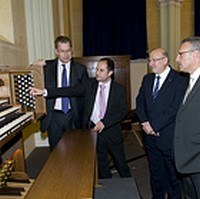 Banking institutions donate €50,000 worth of musical instruments to MPO