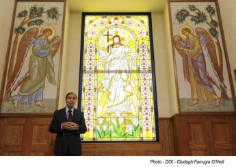 Cupola's Fresco Paintings inaugurated within the Russian Chapel