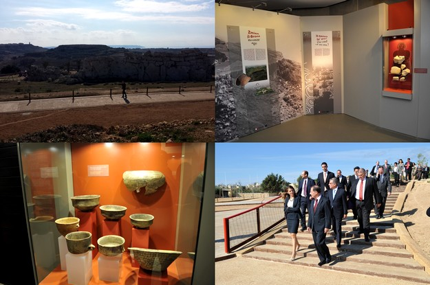 The Ggantija Heritage Park project inaugurated today in Xaghra