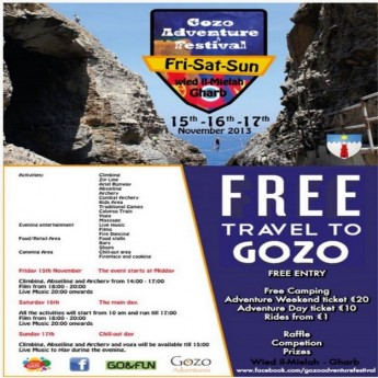 'Gozo Adventure Festival V2' - An outdoor weekend of fun for all ages