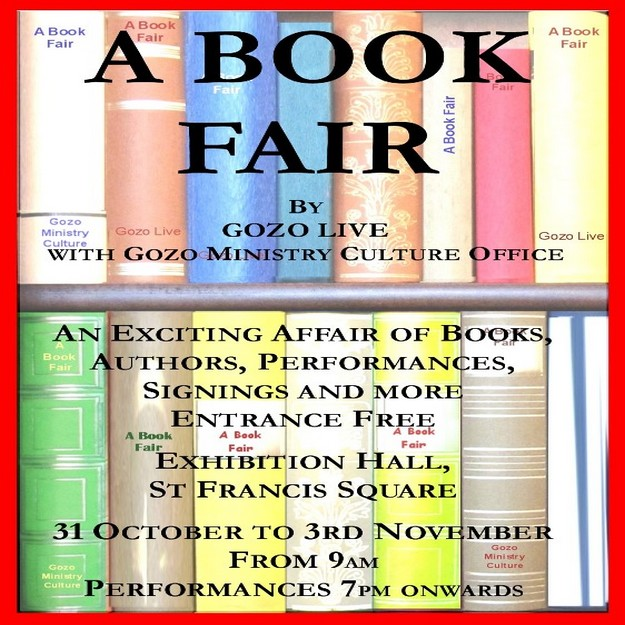 Book Fair by Gozo Live, with books, authors, performances and much more