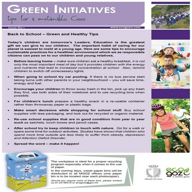 Ministry for Gozo launches its 'Green Iniative Programme'