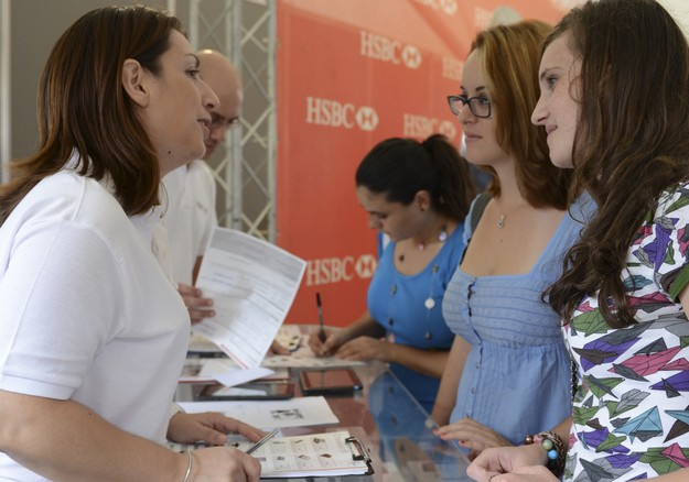Career prospects on offer at HSBC Malta's YES 4 Students stand