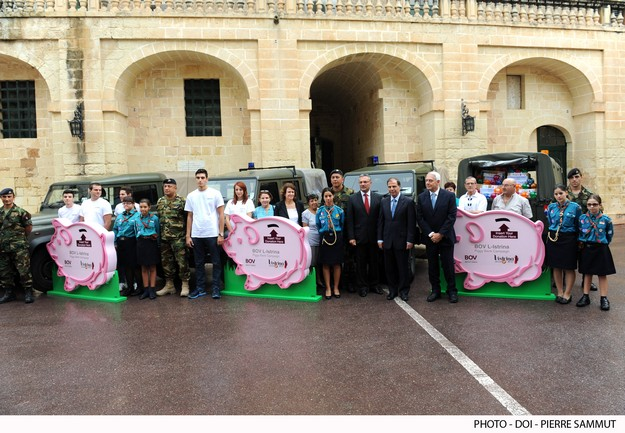 President and Mrs Abela launch L-Istrina BOV Piggy Bank campaign