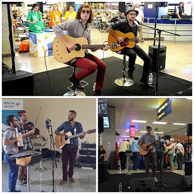 Tourists at MIA welcomed with music for 3.5 million passenger record
