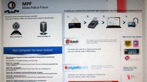 Malta Police warns of computer malware with misuse of Police logo