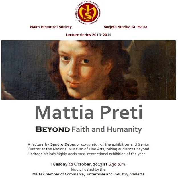 Mattia Preti - Beyond Faith & Humanity, a lecture by Sandro Debono