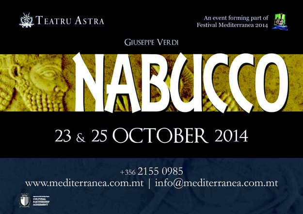 Nabucco to open Festival Mediterranea 2014 at the Teatru Astra