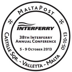 Hand postmark – 38th Annual Interferry Annual Conference