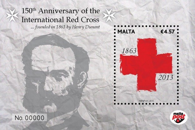 MaltaPost commemorates the 150th anniversary of the Red Cross