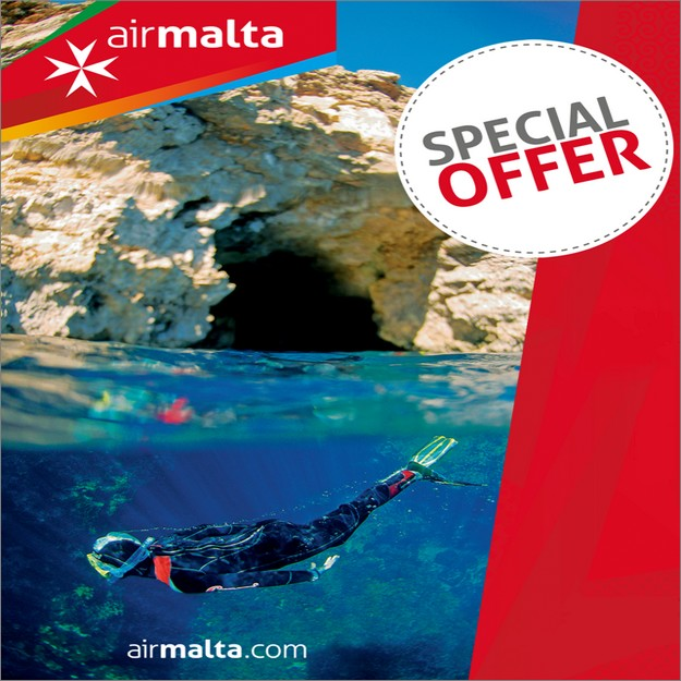 Air Malta launches special offer on carriage for diving equipment