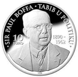 CBM issues €10 numismatic silver coin commemorating Sir Paul Boffa