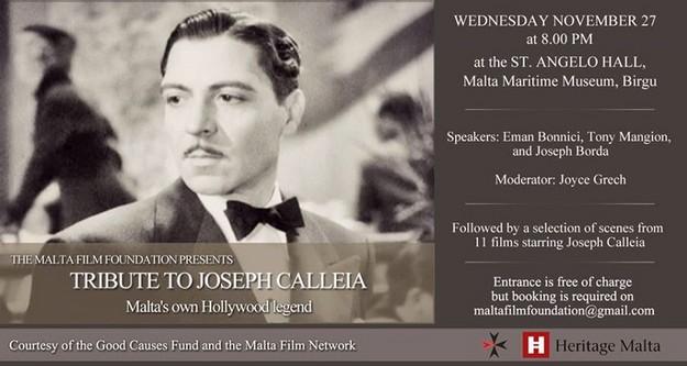 A Tribute to Joseph Calleia - Malta's own Hollywood Legend