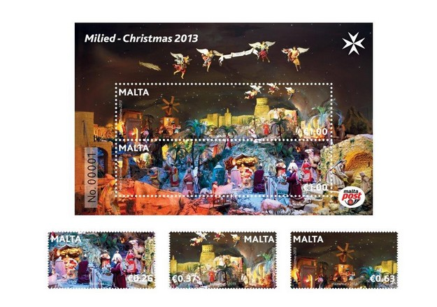 MaltaPost to issue the Christmas 2013 Stamp Set this coming Monday