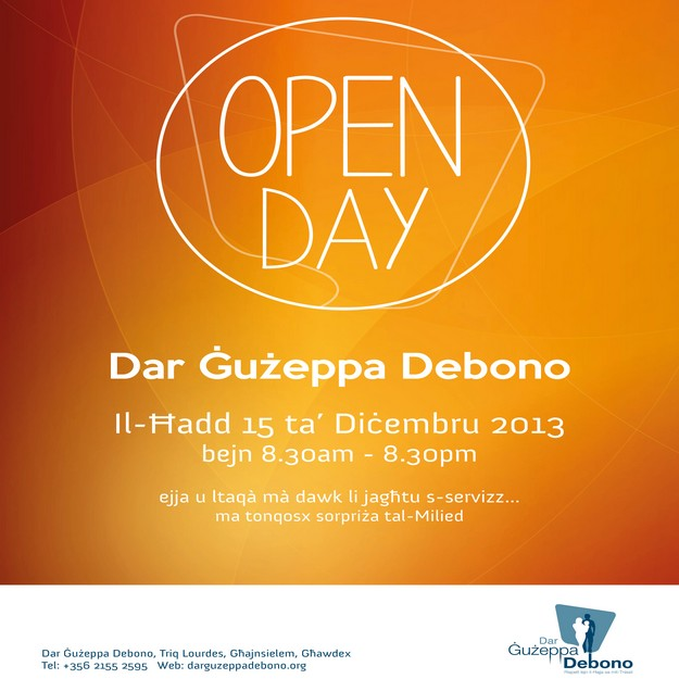 Dar Guzeppa Debono 'Open Day' this Sunday welcomes all visitors to the Home