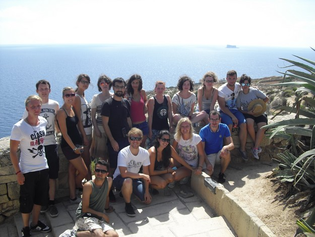 Erasmus students on Intensive Language Course learn to speak Maltese