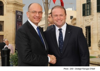 Italian Prime Minister, Mr Enrico Letta on official visit to Malta