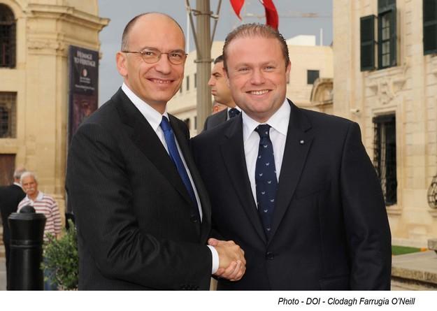 Italian Prime Minister, Mr Enrico Letta on official visit to Malta