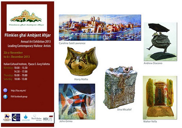 FAA Annual Art Exhibition opens next week at the Italian Cultural Institute