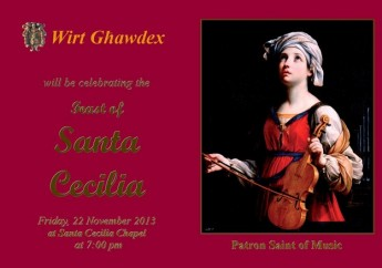 Wirt Ghawdex celebrates the feast of St Cecilia, Patron Saint of Music