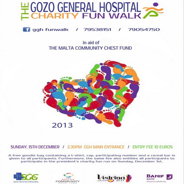 Gozo General Hospital Charity Fun Walk in aid of Malta Community Chest Fund