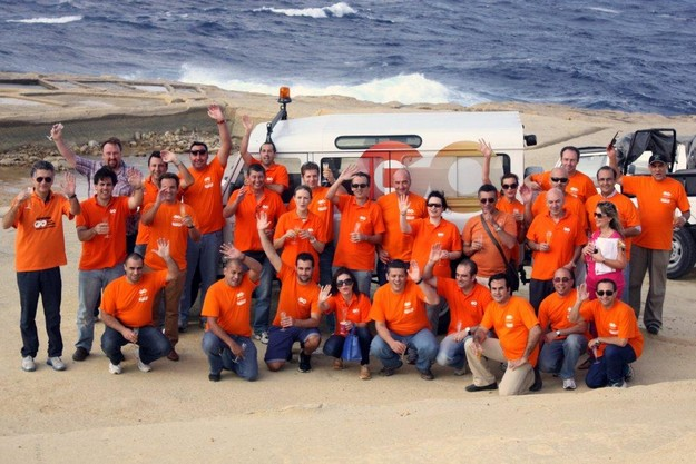 GO Senior Management take part in a Gozo team-building event