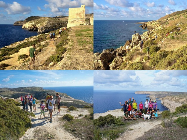 Perfect weather for Mgarr to Dwejra charity hike in aid of St Rita's Home