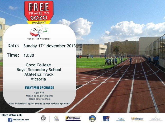 First Gozo Athletics track event at the'Free Travel to Gozo Weekend'