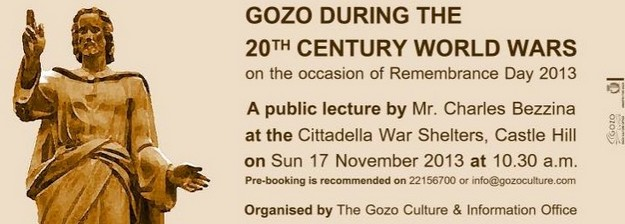 Gozo 'During the 20th Century World Wars' - Public Lecture by Charles Bezzina